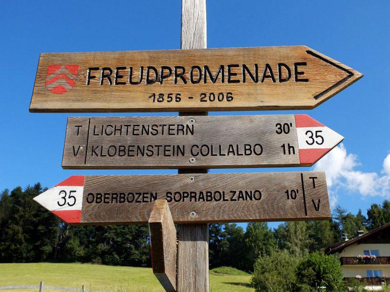 Freudpromenade Lichtenstern -> Oberbozen
