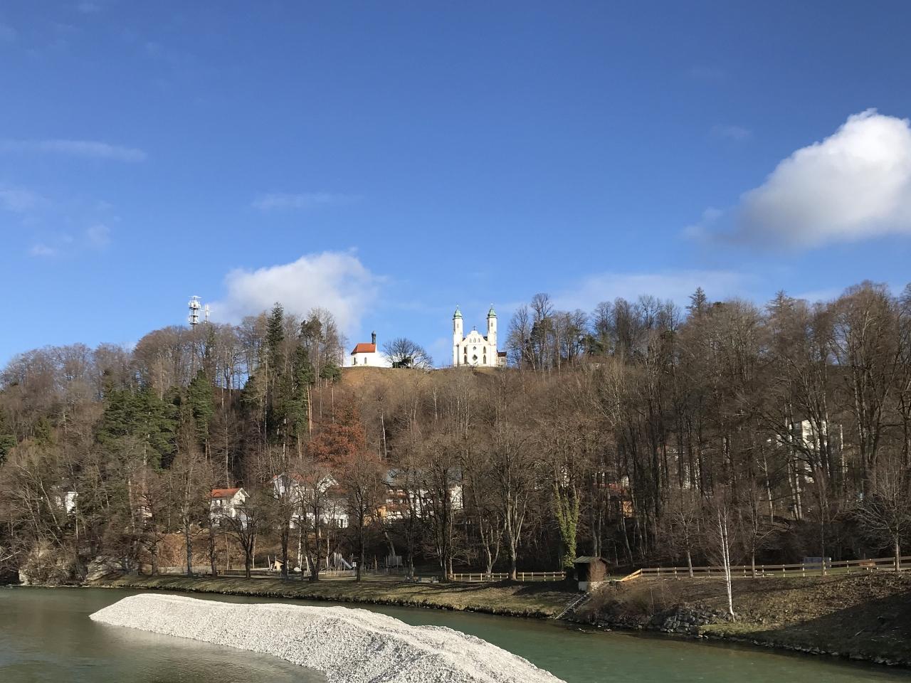 Blick zum Kalvarienberg
